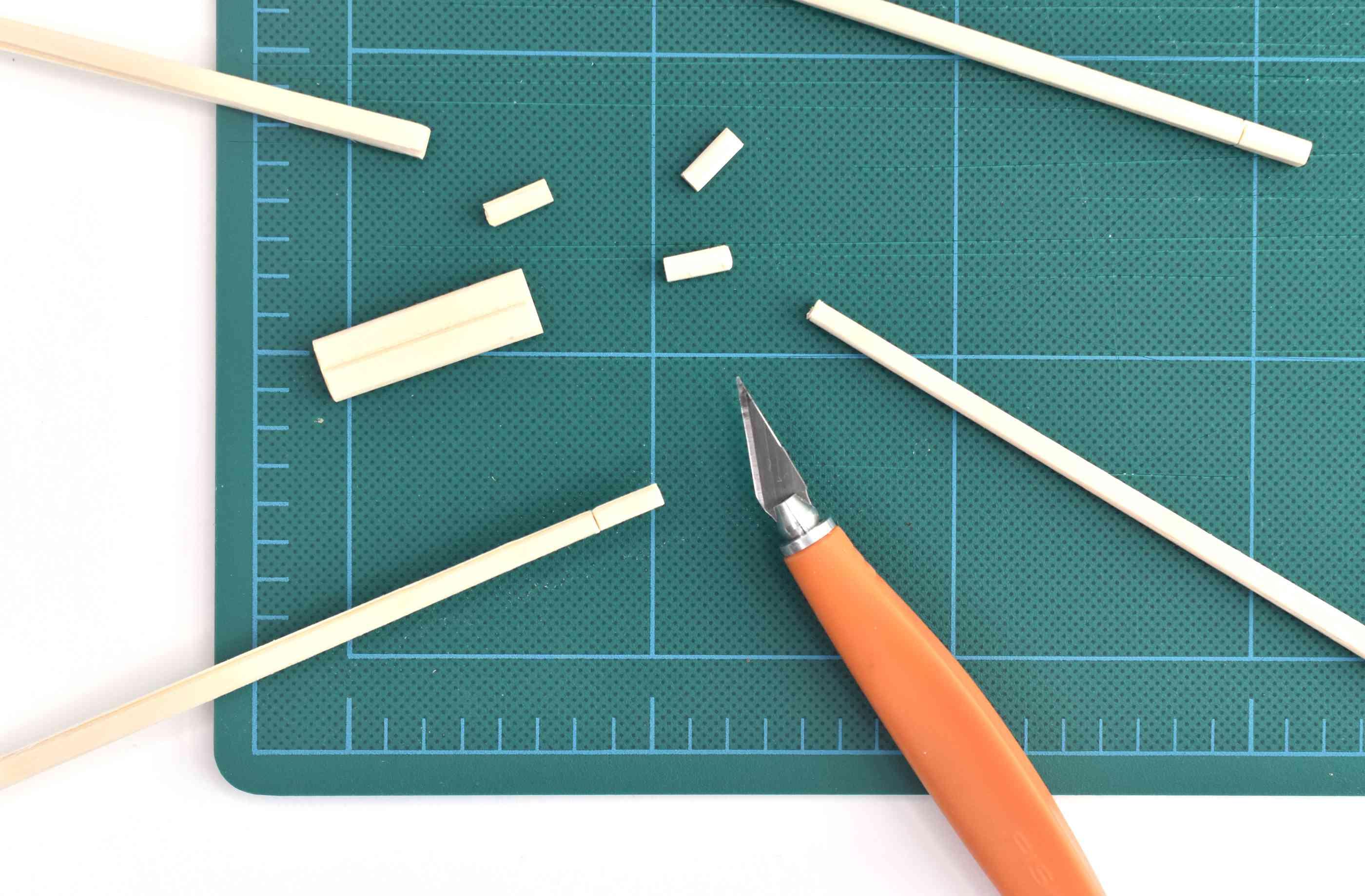 Cut the Chopsticks with a Craft Knife