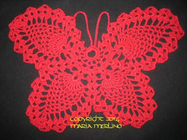 Unique Large Crochet Butterfly Pattern Mold - Easy Scarf Knitting ...