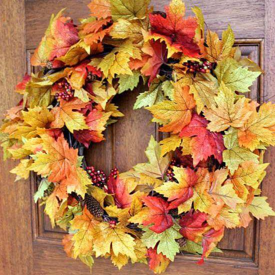 Fall Wreath DIY in Under 10 Minutes