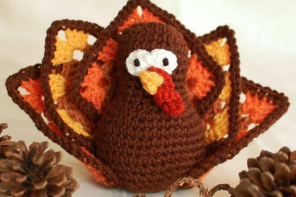 Granny Square Turkey FREE Crochet Pattern