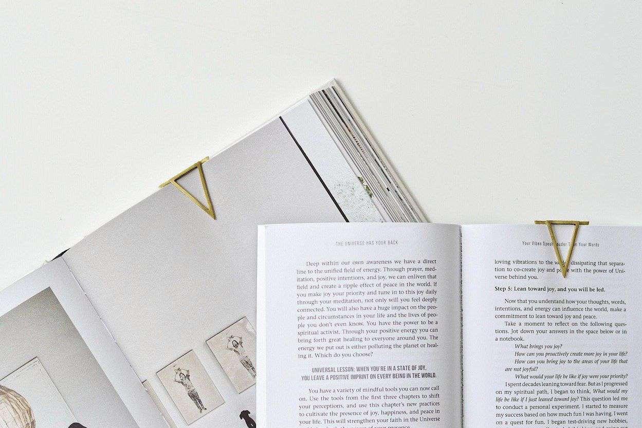 Brass Clip Bookmark