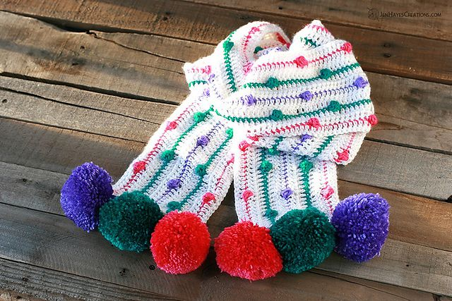 Crochet Bobble Scarf Free Pattern