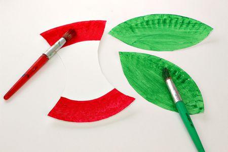 Diy Paper Plate Apple Craft For Kids