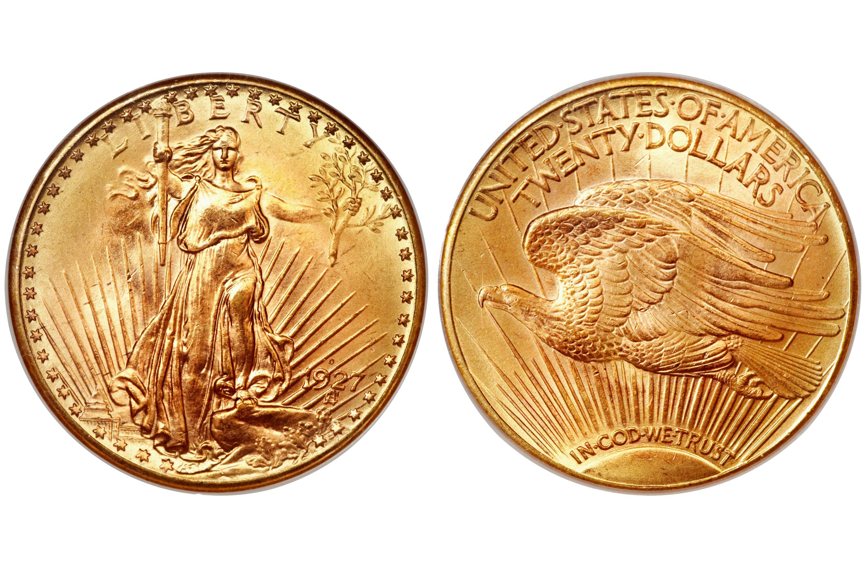 1927-D Saint-Gaudens $20 Gold Double Eagle