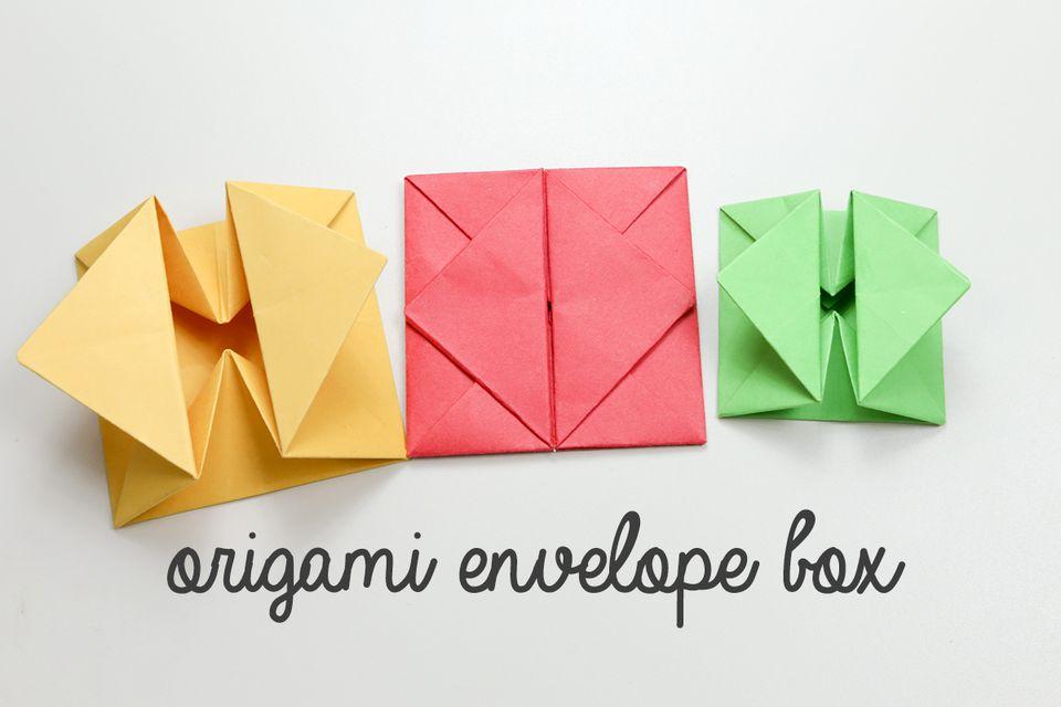 origami envelope box tutorial