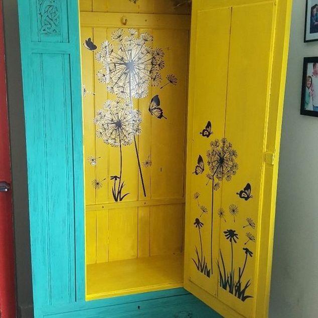 decal decoupaged cupboard