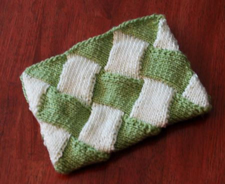Entrelac Pouch Free Knitting Pattern