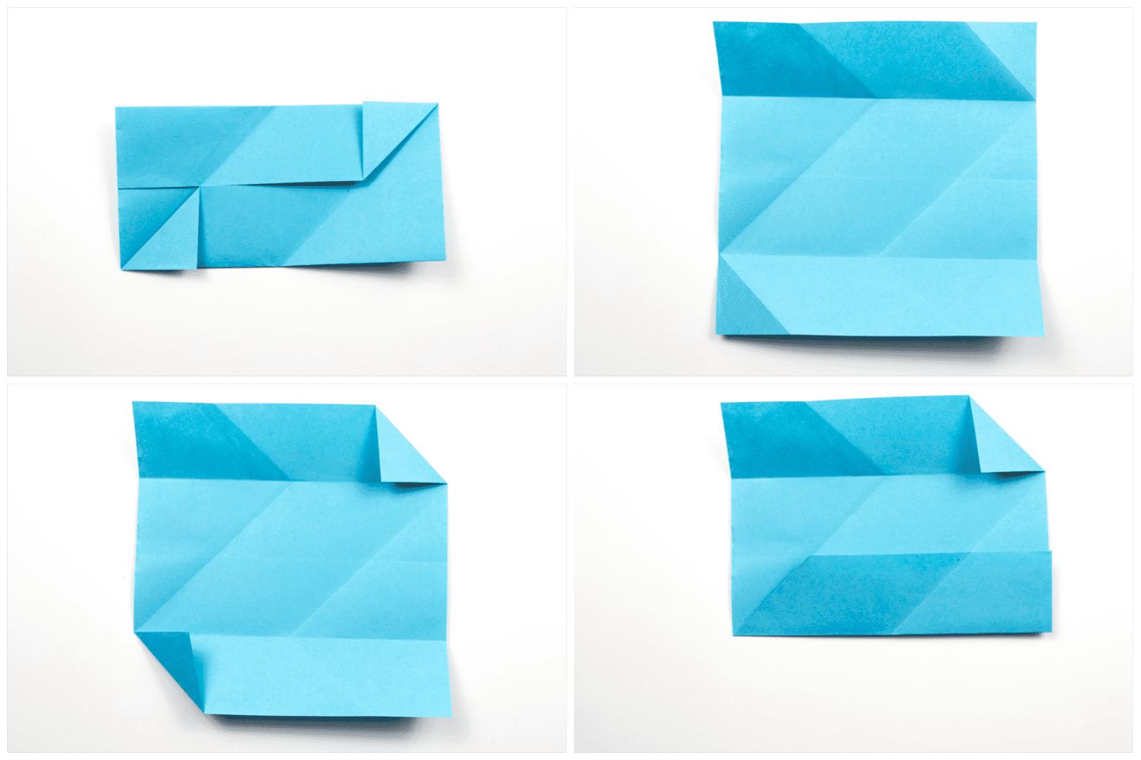 Origami Sonobe wall display step 2