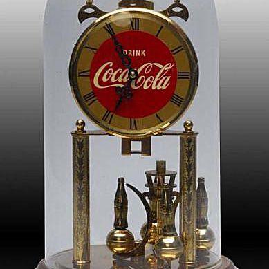 Ca. 1940s - 1950s Large Coca-Cola Domed Clock