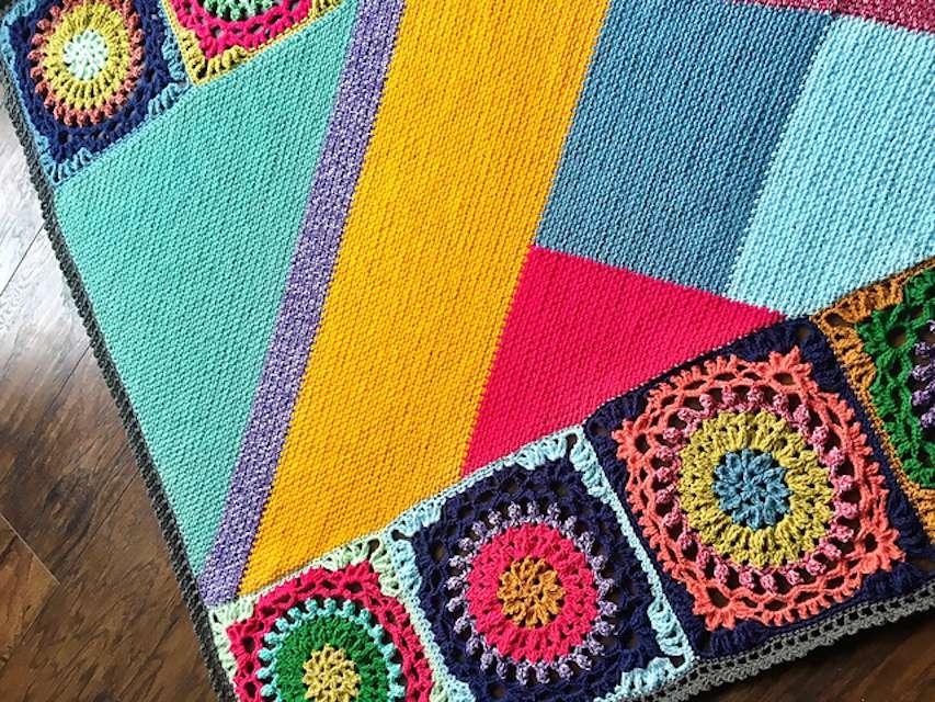 Good Vibes Crochet Blanket Free Pattern