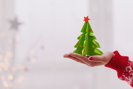 a 3d christmas tree made from a christmas tree template