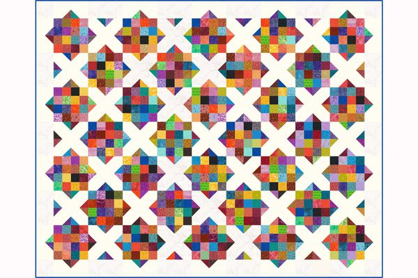 Sixteen Patch and X Quilt Pattern