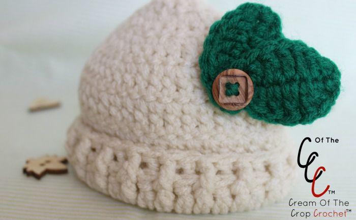 Baby leaf hat crochet