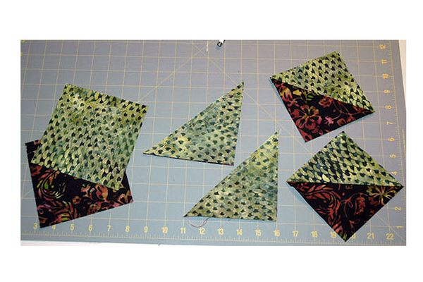 Half Square Triangles for Quilts