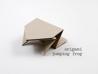 Origami Jumping Frog Tutorial For Kids