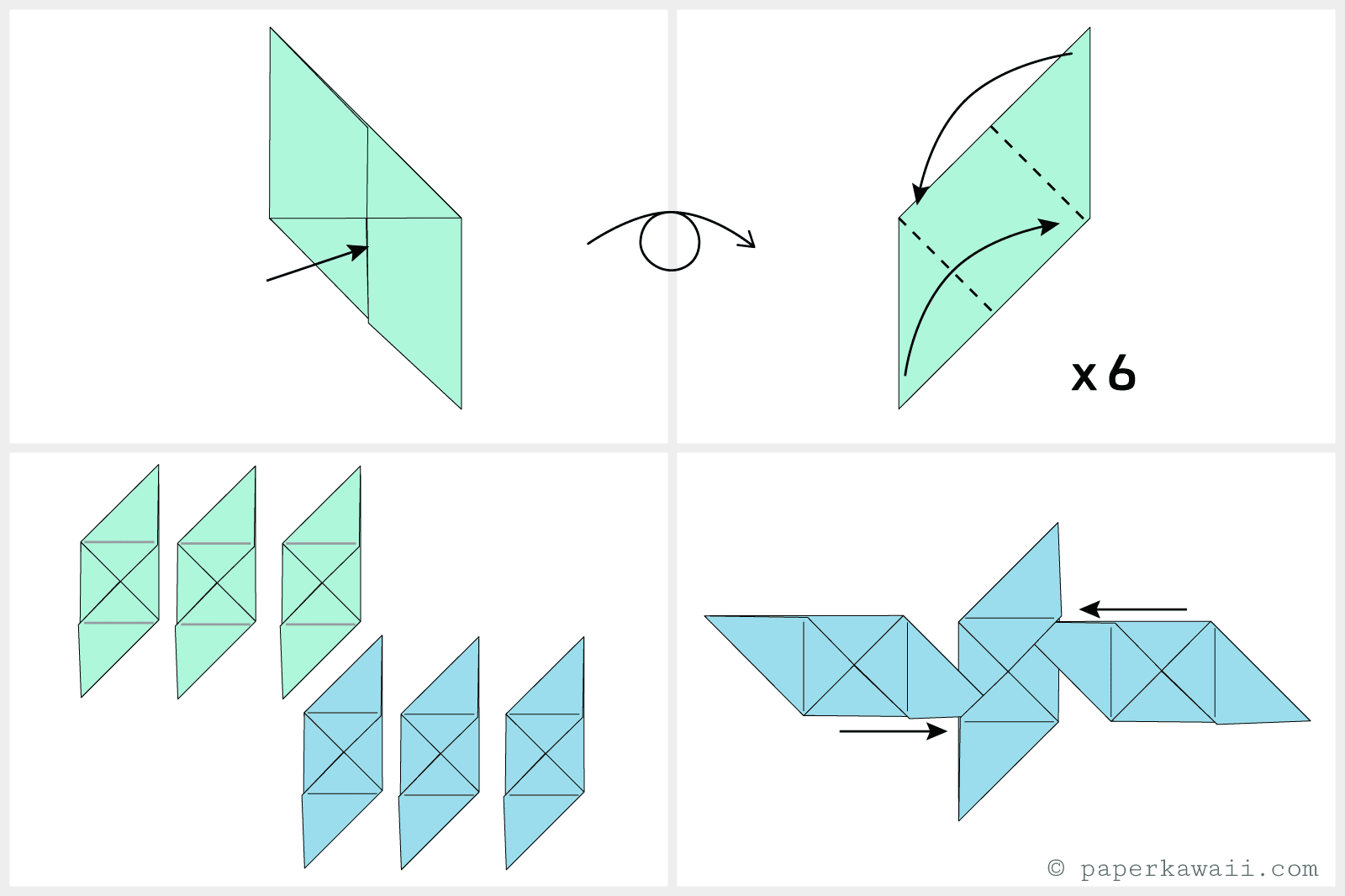 How To Make A Modular Origami Cube Box Free Diagrams Instructing You Fold Unit Models