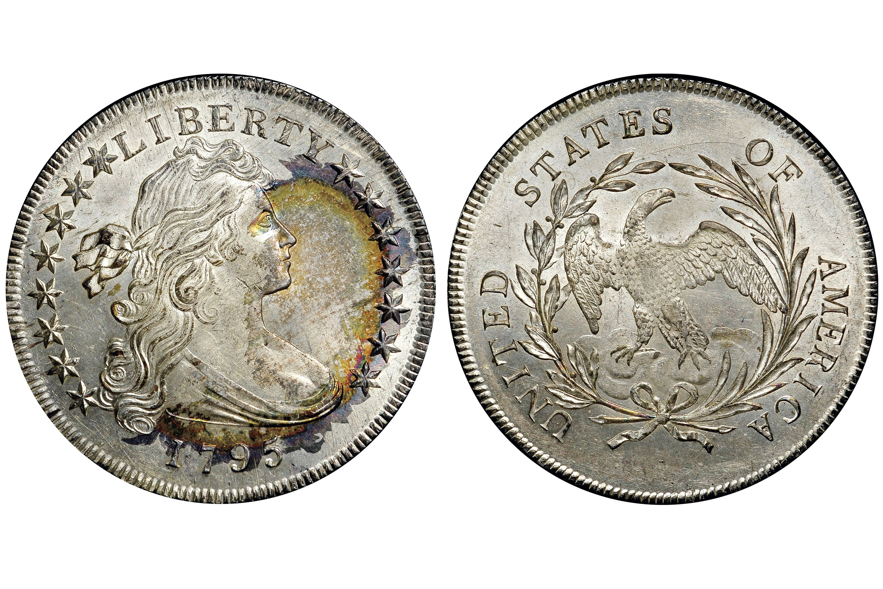 1795 Draped Bust Silver Dollar, Off Center
