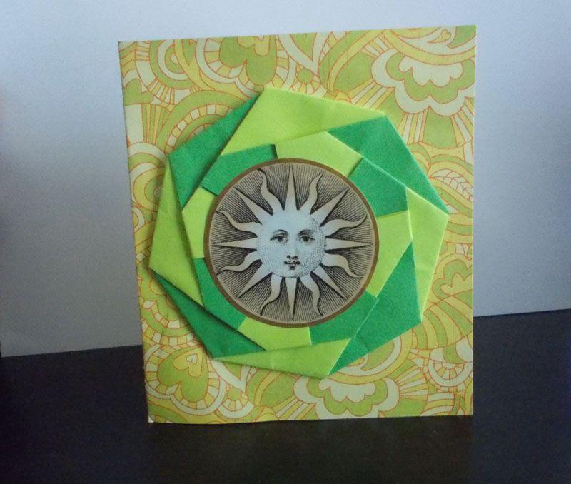 Фокус открытка оригами, надписью
