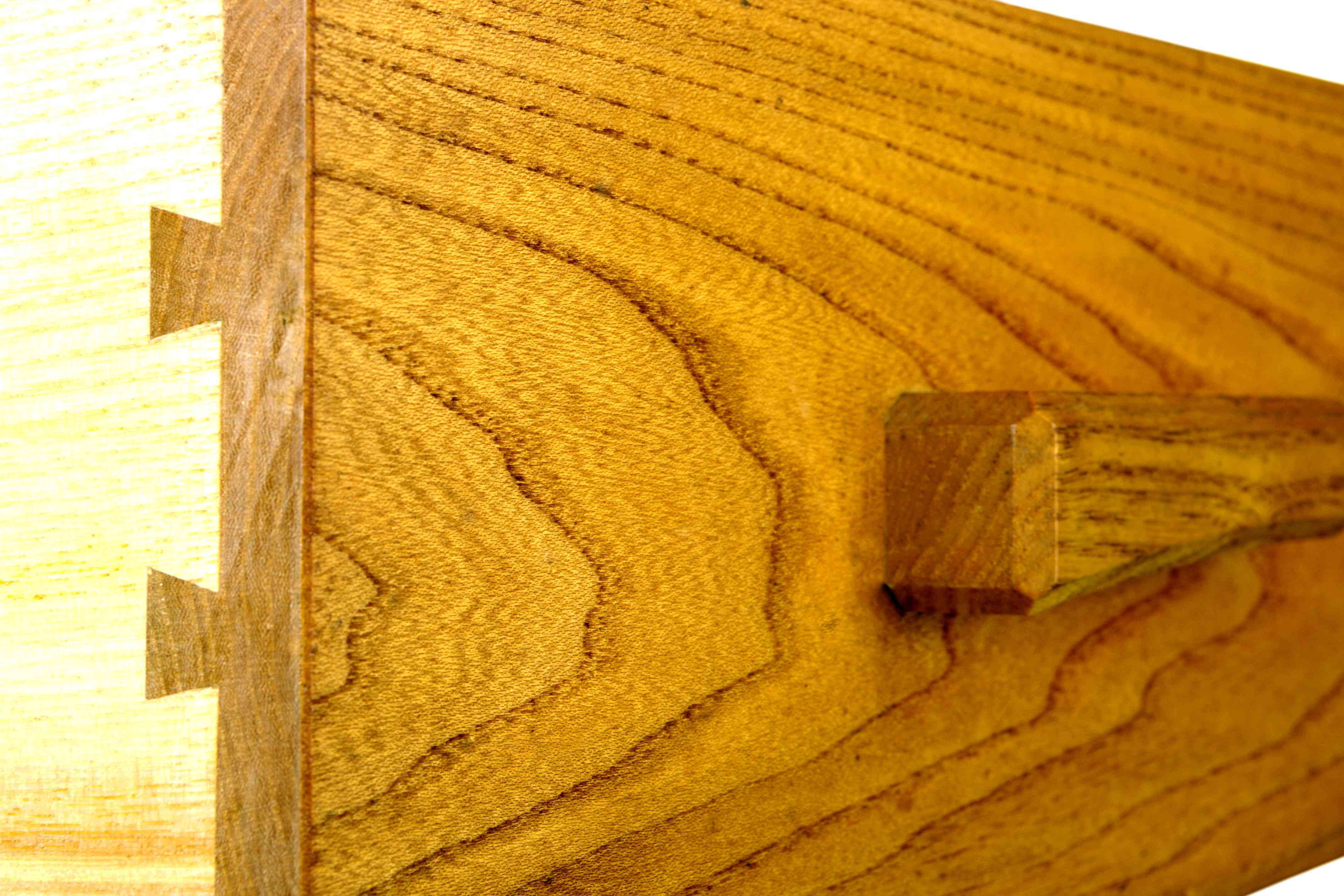 The fine details of a dove tail drawer