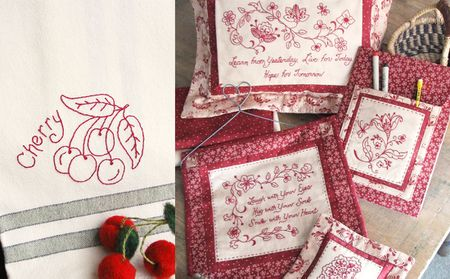 8 Redwork Hand Embroidery Patterns