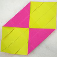 folding opposite corners to the center