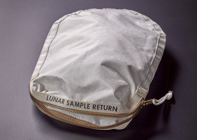 Bag Used to Collect Moon Rocks by Neil Armstrong