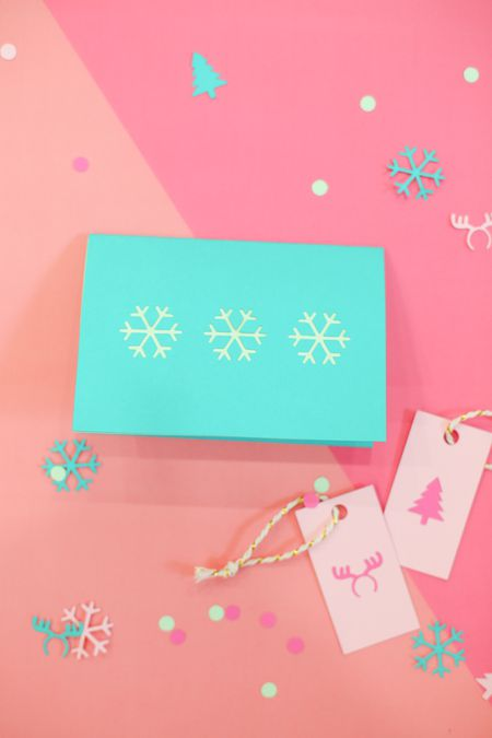 how to make easy colorful diy christmas cards and gift tags