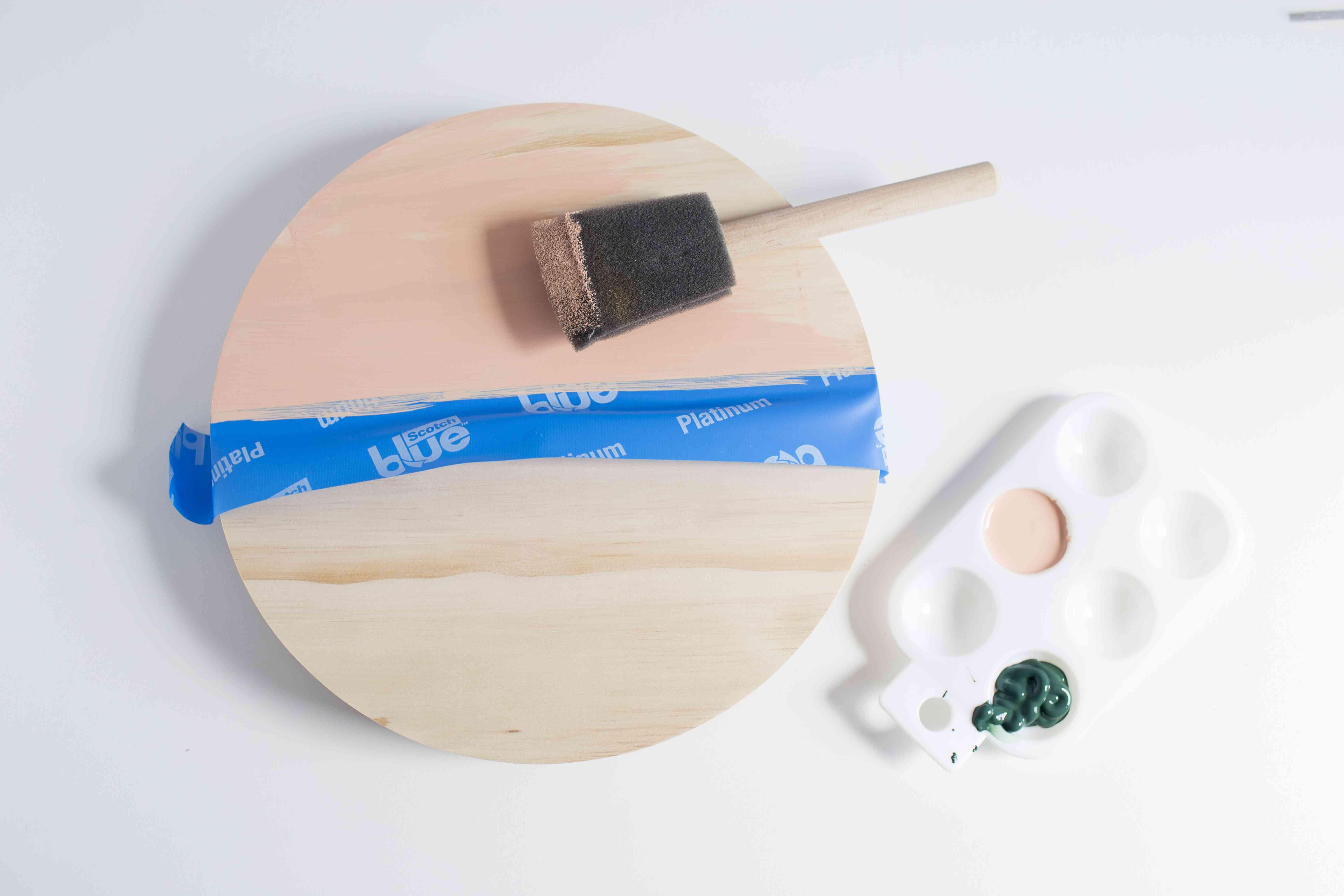 Acrylic painting wood