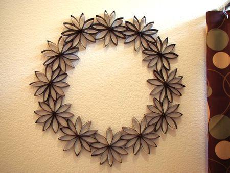 10 paper flower wreaths you can diy paper tube flower wreath craft mightylinksfo