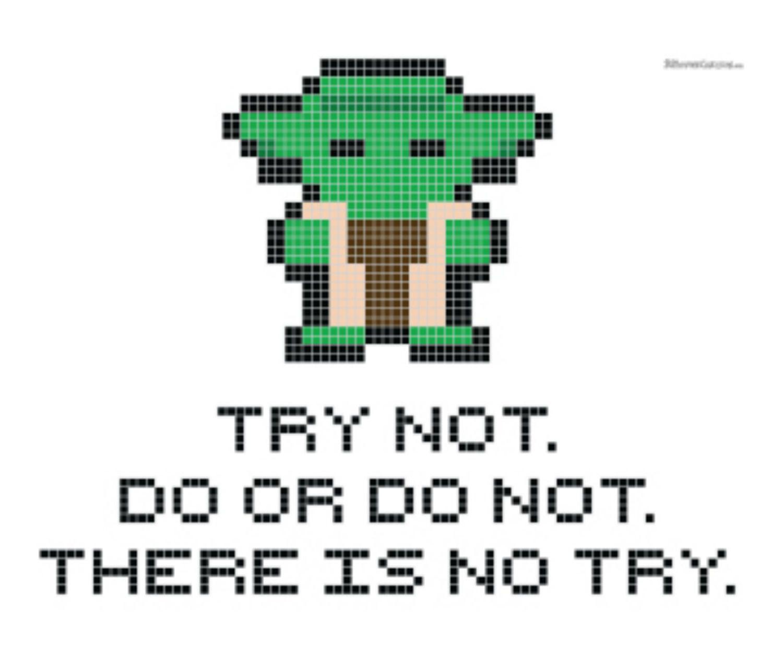 Yoda quote cross stitch