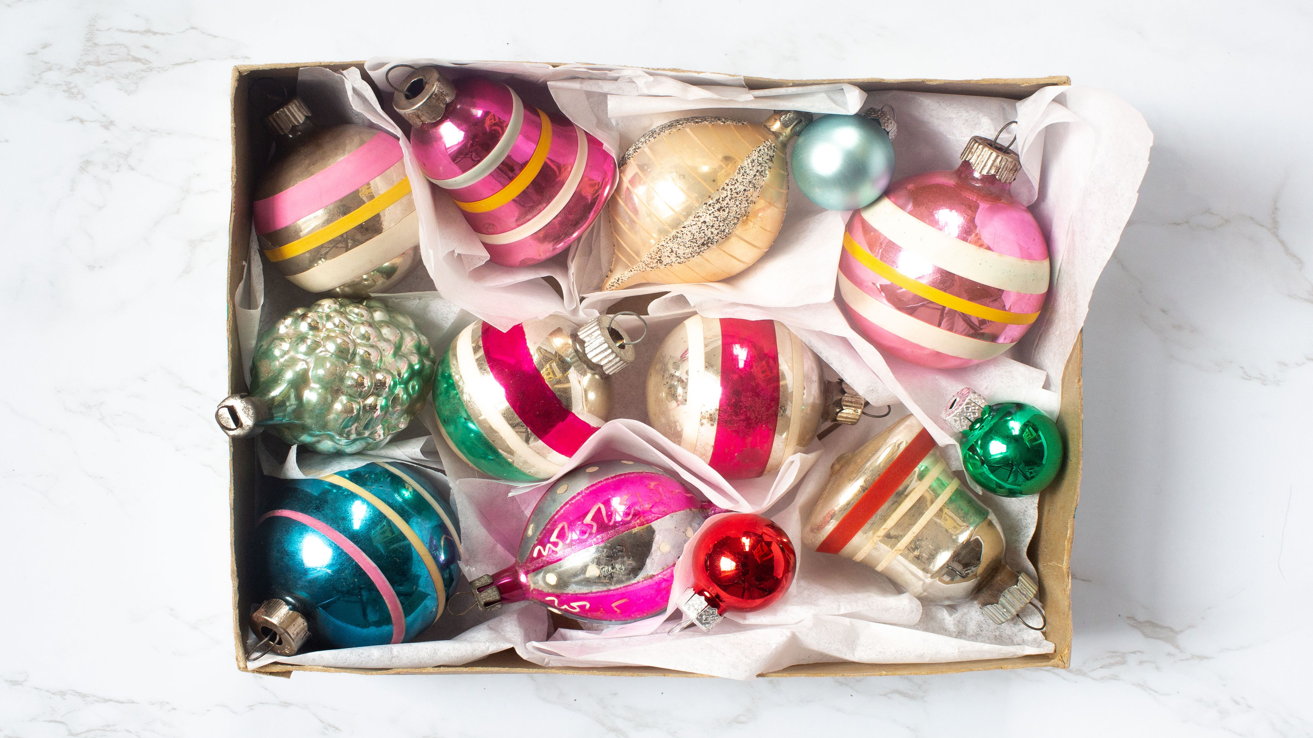 Vintage Yule Gems by Bradford Jewel-shaped Plastic Christmas Ornaments Vintage Christmas Retro Christmas Made in Hong Kong 1960s 1970s