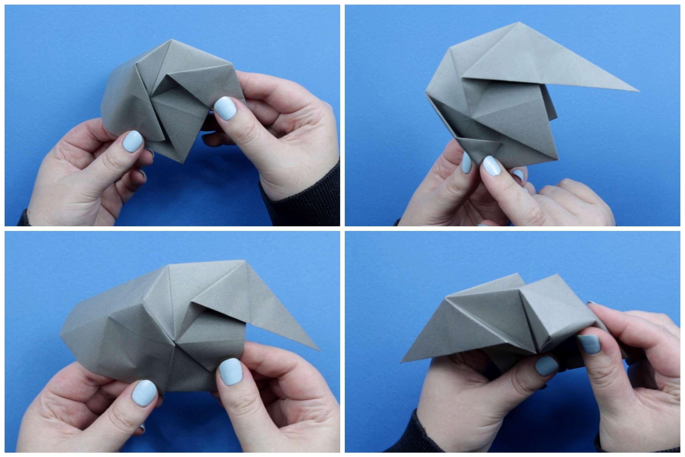 Origami elephant tutorial step eight