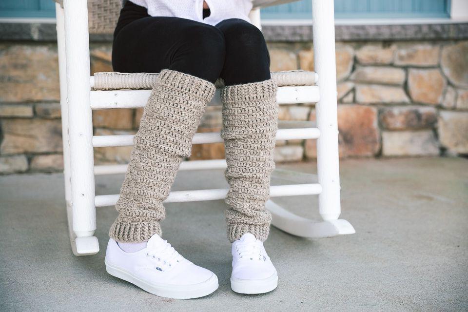 Slouchy Crochet Leg Warmer Crochet Pattern