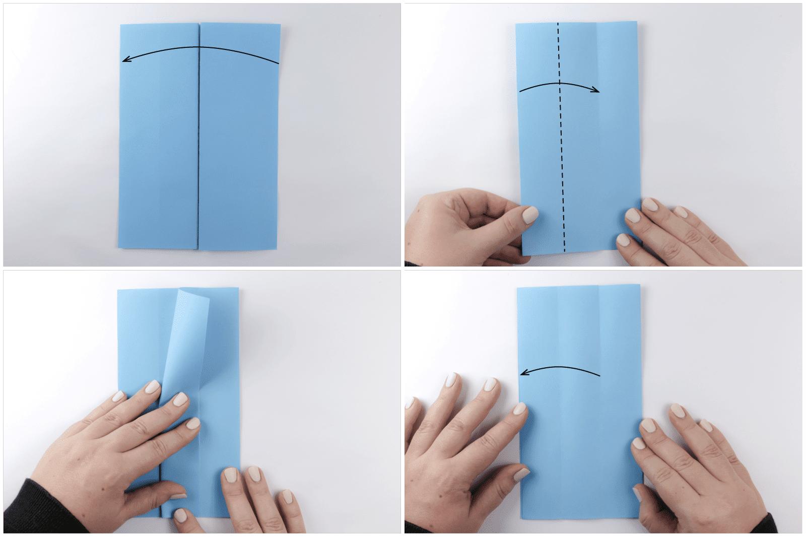 easy rectangular origami box step 3