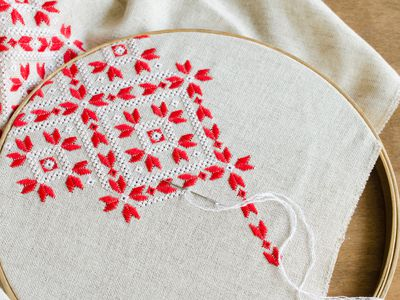 How to Put Cross Stitch Fabric in a Hoop in 7 Steps