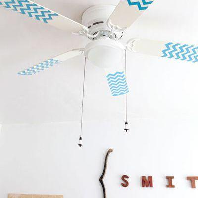 DIY Washi Tape Ceiling Fan Flair