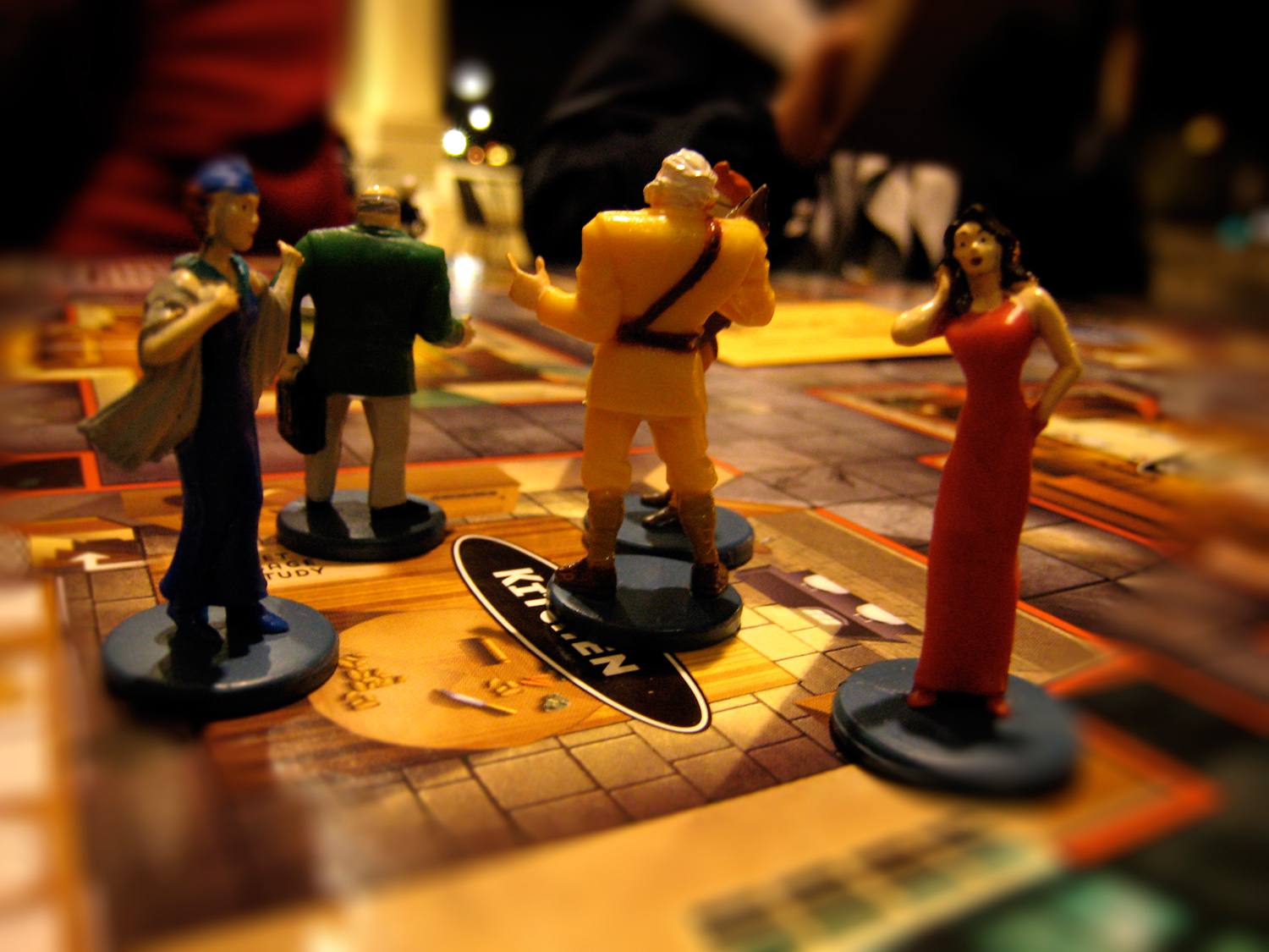 Four Clue pieces on the board.