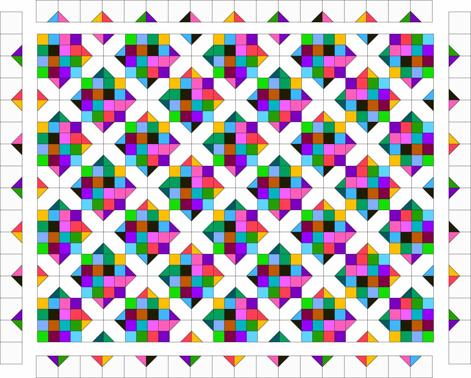 Field of Diamonds Quilt with Border