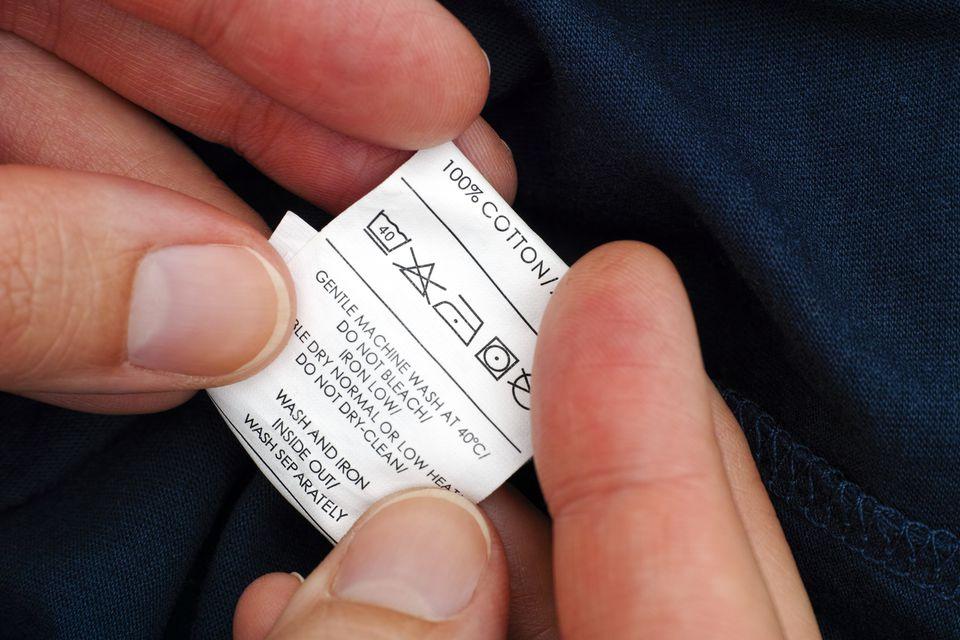 fabric washing tag
