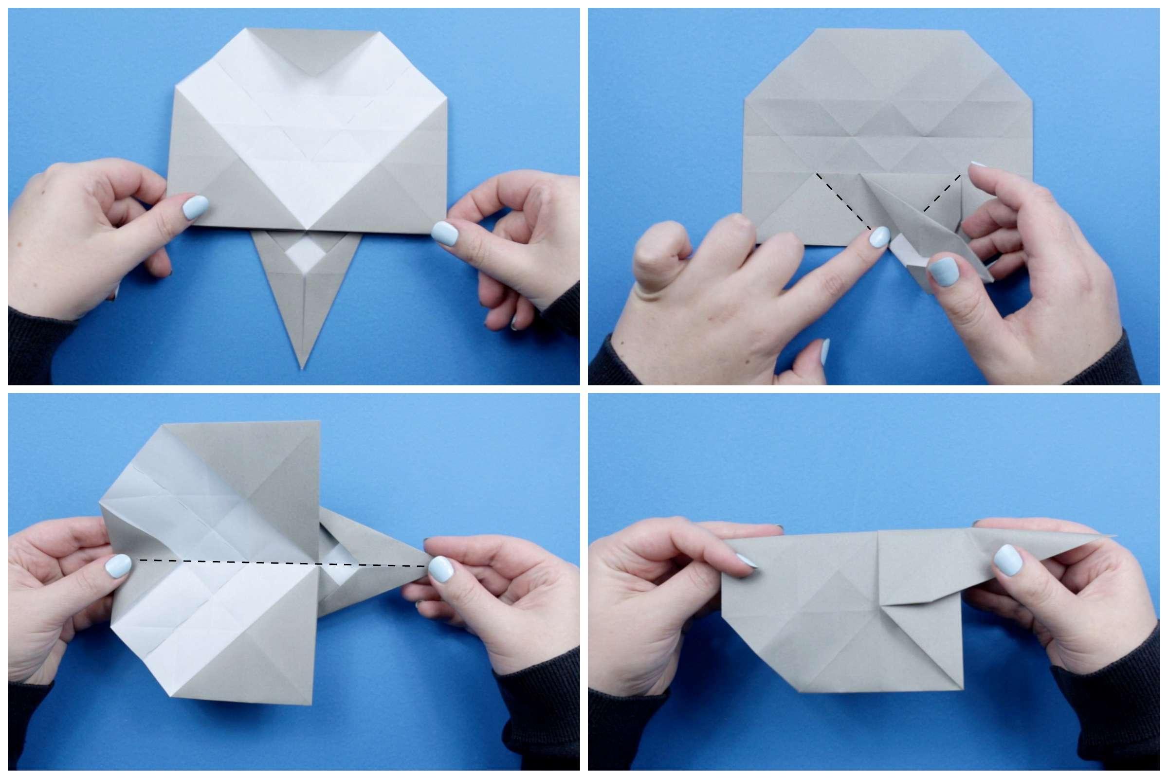 Origami elephant tutorial step six