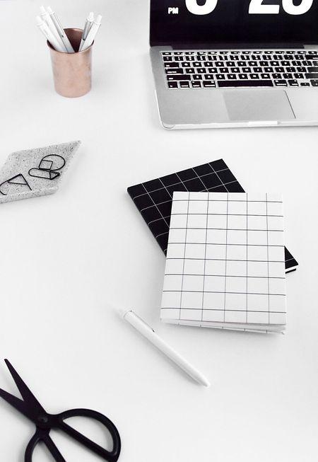 42 diys for a beautiful organized office diy grid notebook covers solutioingenieria Choice Image