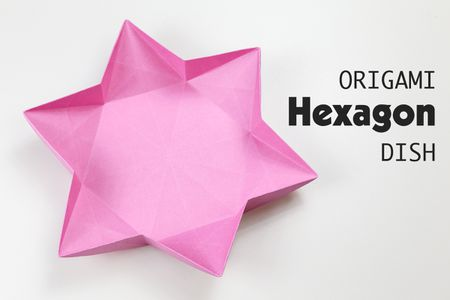 Origami Hexagonal Dish Instructions