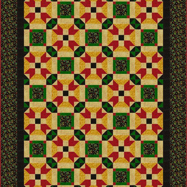 Linked Stars Quilt Pattern