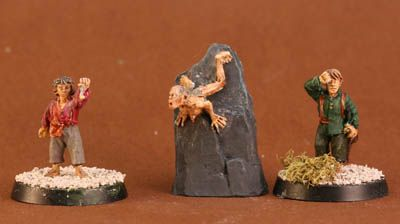 Painted Lord of the Rings miniatures