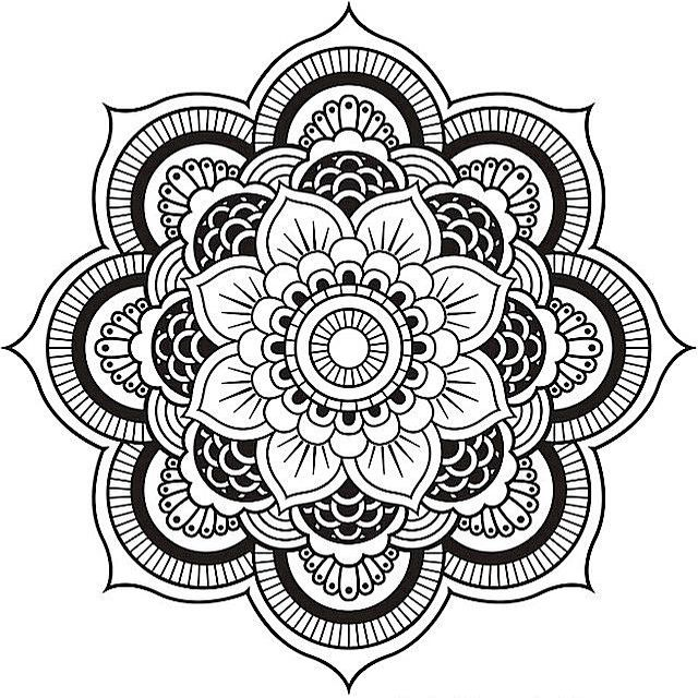 A Fl Mandala Coloring Pages