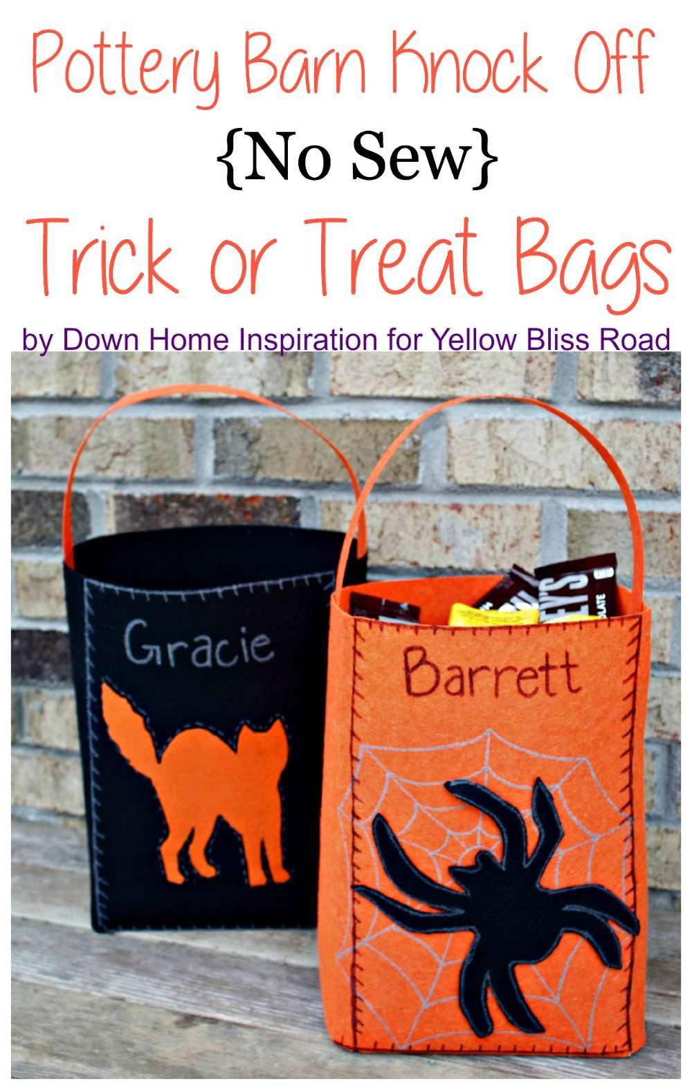 Felt bags for Halloween