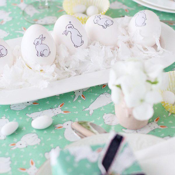 DIY Bunny Decoupage Easter Eggs