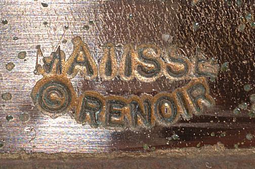 Ca. mid-1950s Matisse Renoir mark