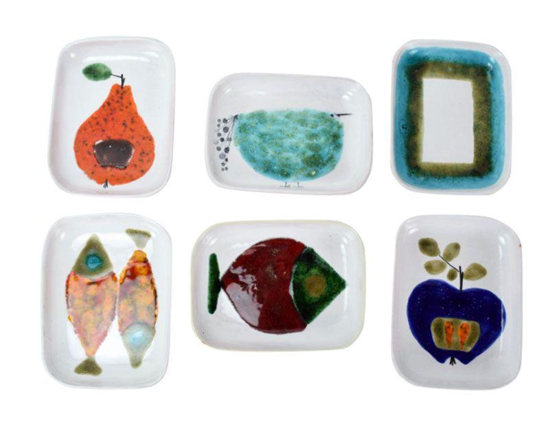 Mid-Century Modern Abstracted Fruit & Animals by Atelier Rabiusla