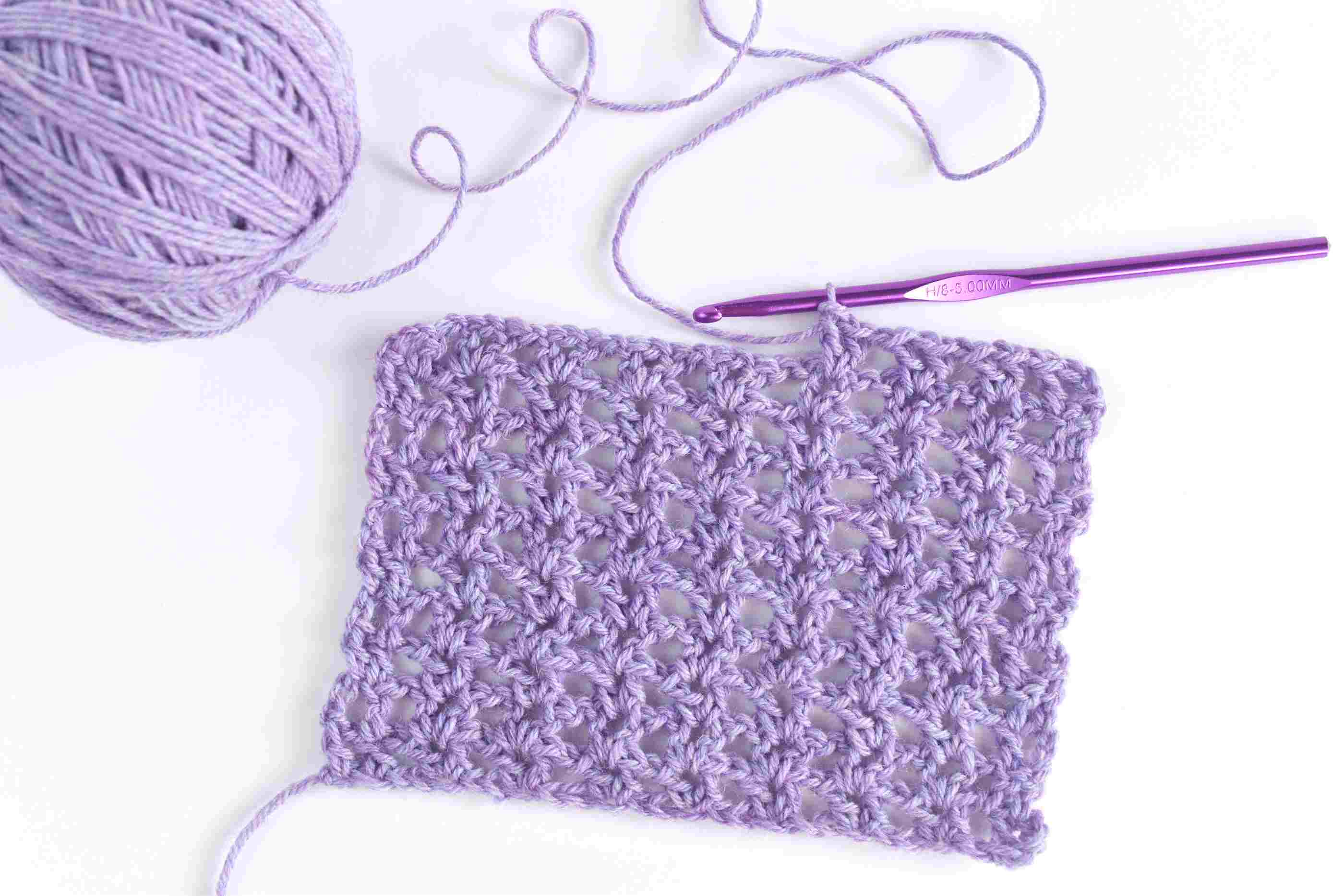 How to Crochet the V Stitch